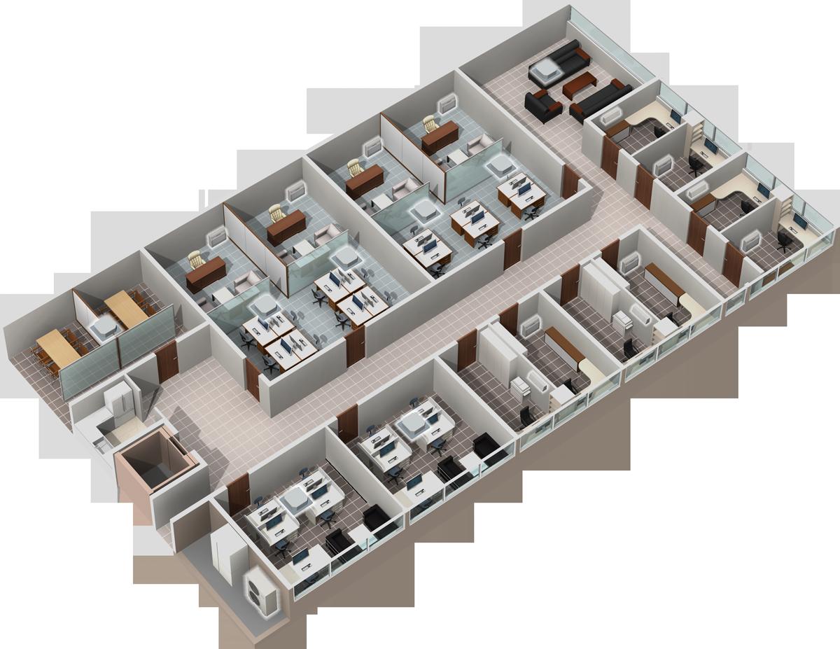 projekt instalacji vrf, pomieszczenia biurowe